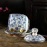 Taza de té de gran capacidad, 400 ml, esmalte de color con tapa para oficina, reunión, caja de té, vidrio de borosilicato, la botella con el más grande (color: 02)