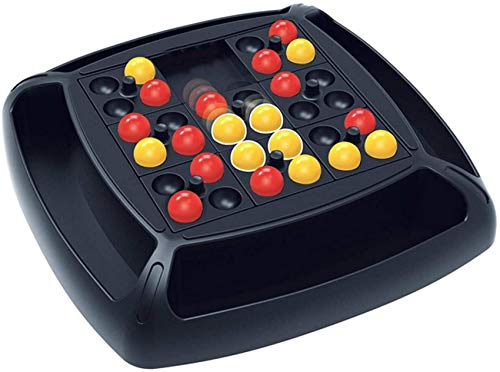 Juegos de Mesa de Batalla para 2 Jugadores con 32 Cuentas, Desarrollo de la concentración y Juguete de Habilidad cognitiva del Color, Juego Inteligente Educativo para Padres e Hijos: Cuatro Bolas