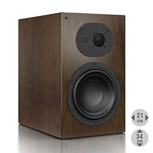 Nubert nuLine 34 Regallautsprecher | Lautsprecher für Stereo | Heimkino & HiFi Qualität auf hohem Niveau | Passive Regalbox mit 2 Wege Technik Made in Germany | Kompaktlautsprecher Nussbaum | 1 Stück