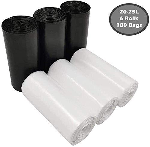 Cfbcc Müllsack Reinigungsmittel Caddie Barrel Liner Mülleimer Beutel Abfalleimer mit 20L-25L 180 Taschen ausgekleidet