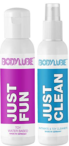 BODYLUBE® JUST FUN Gleitgel auf Wasserbasis + JUST CLEAN Intim- und Toyreiniger (Selfcare Bundle)