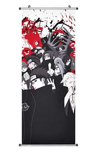 CoolChange Großes Naruto Rollbild / Kakemono aus Stoff Poster, 100x40cm, Motiv: Akatsuki