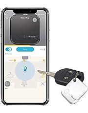 GLCON キーファインダー 忘れ物防止 タグ 鍵?スマートフォン?財布?猫などの紛失防止タグ Bluetooth4.0搭載するiPhone Androidのスマホに対応(ホワイト、一個)