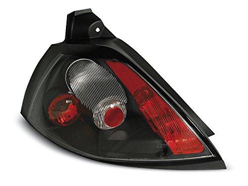 1 paar achterlichten Megane 2 02-05 Limousine zwart (E20)