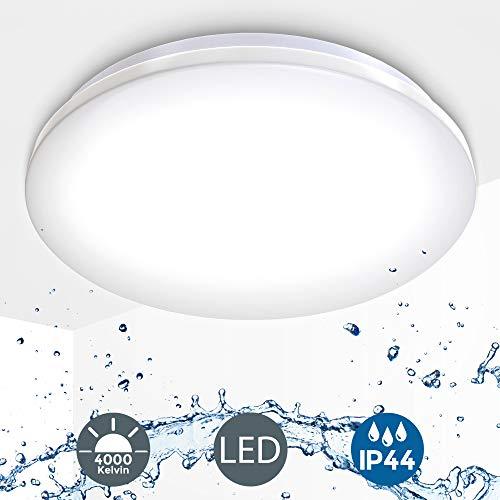 LED Deckenlampe inkl. 18W 1600lm LED Platine, IP44, Deckenleuchte für Badezimmer, 4000K neutralweiss, 230V, Ø 382mm