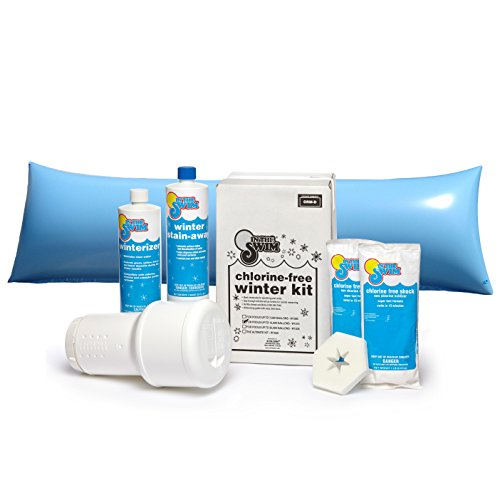In The Swim Bundle - 2 Items: Deluxe Pool Winterizing Closing Chemical Kit Pools up to 15,000 Gallons 4 x 8 ft. Air Pillow
