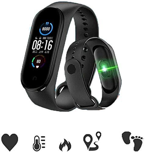 M5 Smart Bracelet Pulsera de Actividad,Reloj Inteligente con Oxígeno Sanguíneo Presión Arterial Frecuencia Cardíaca,Cronómetros,Calorías,Monitor de Sueño,Podómetro Monitores de Actividad Fitness