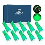 10 Bombillas Led T5 12V W1.2W, Con 1 Smd 5050, Para Salpicadero e Interior de Coche y Moto (Verde)