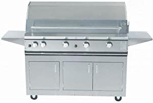 Profire Professional Series 48 Inch Hybrid Natural Gas Grill With Rotisserie - On Cart