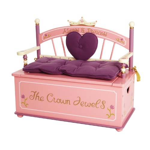 Wildkin Kids Princess Wooden Bench Seat...