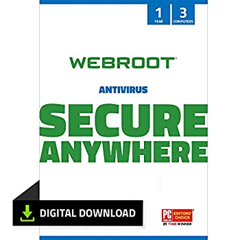 Webroot Antivirus Protection and Internet Security Software 2021 - 3 Device 1 Year  PC Download
