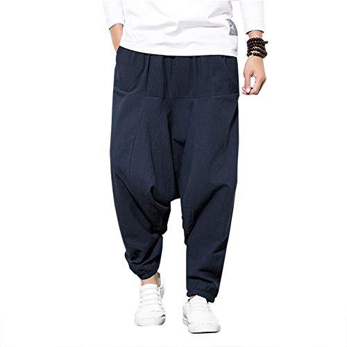 Pantalones Bombachos Cagados Hombre Mujer Unisex para Yoga Cómodo Pantalón Cagados Ancho...