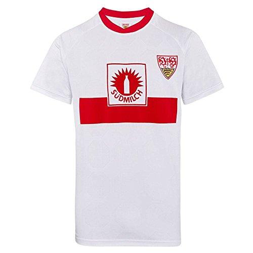 Score Draw Herren Retro - Trikot VfB Stuttgart | UEFA-Cup Finale Trikot 1989 in Weiß, Größe: XXL