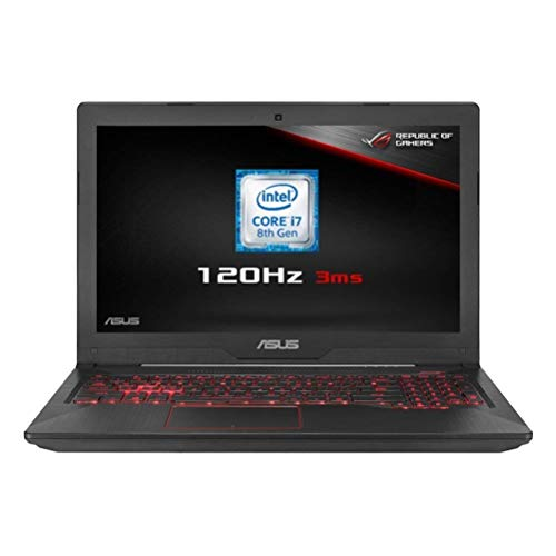 ASUS FX504GM-EN366T 15.6 Inch Full HD 120Hz Screen Gaming Laptop (Black) (Intel i7-8750H Processor, 16 GB RAM, 256 GB SSD + 1 TB HDD, Nvidia GTX1060 6 GB Graphics, Windows 10)
