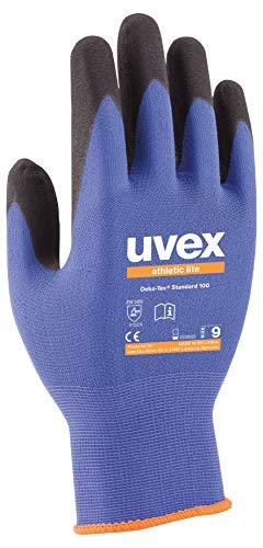 10 Paar uvex athletic lite 60027 Arbeitshandschuhe nach EN 388 - Mechaniker Handschuhe für Werkstatt und Arbeit Gr.8 (M)