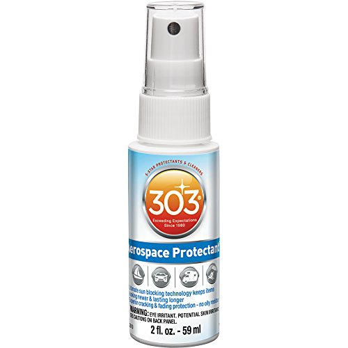 303 (30302) UV Protectant Spray for Vinyl, Plastic, Rubber, Fiberglass, Leather & More – Dust and Dirt Repellant - Non-Toxic, Matte Finish,  2 Fl. oz.
