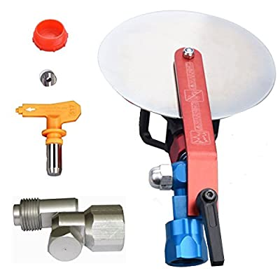 "Jinwen 120015 Spray Guide Accessory Tool For All Airless Paint Sprayer 7/8"" w/ 517 Tip With Swivel Universal Joint"