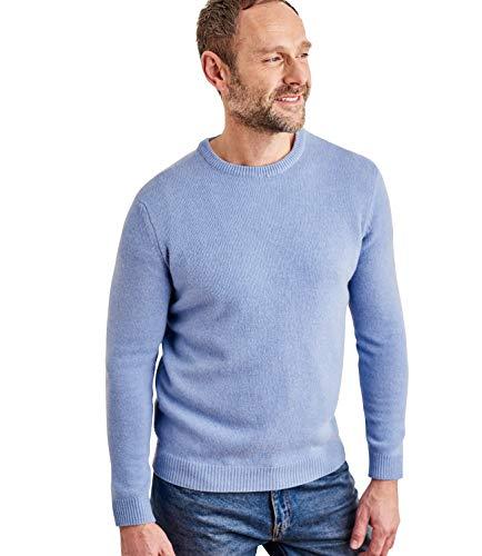 Wool Overs Mens Lambswool Crew Neck Sweater Iceberg Marl L