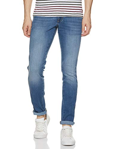 Wrangler Men's Slim Fit Jeans (W34619W2283G_Jsw-mid Shade_36W x 34L)