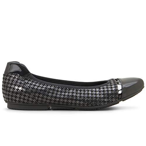 Hogan HxW14407124 LLT0XCF ballerina-wrap, zwart en zilver, maat
