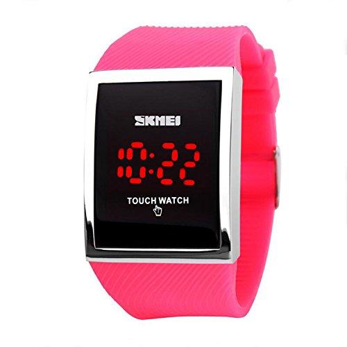 Gosasa Touch Screen Digital LED Waterproof Girls Sport Casual Wrist Watches