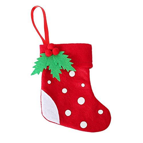 Schildeng Weihnachtsmesser Gabeln Tasche - Kinder Weihnachtsstrümpfe Dekoration Gabeln Tasche für Weihnachtsdekoration Geburtstagsgeschenk
