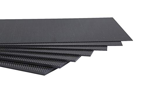 200X300X1.0MM 100% 3K Plain Weave Carbon Fiber Sheet Laminate Plate Panel