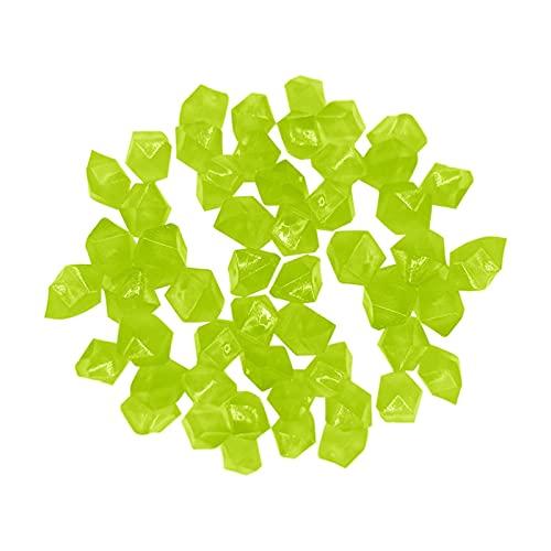 Piedras y cristales 300 PCS Garden Resplandor en las piedras luminosas oscuras para Pasillos Plantas Acuario Decoración de acuario Brillo Piedras Fish Tank Decoración de jardín ( Color : Mint Green )