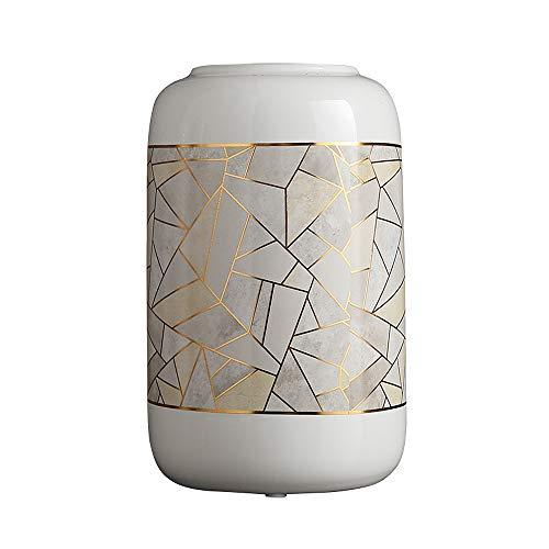 OTENGD Keramische Blumenvase, Moderne geometrische dekorative Vasen, für Mittelstücke, Hochzeits- oder Wohnzimmer, für Blumen, Blumenarrangements, Heimdekoration