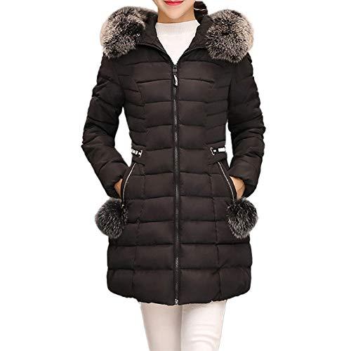 Homebaby Giacca Donna Invernali Offerta Elegante Caldo Taglie Forti Cappotto Imbottito Donna Autunnale Cotone Cardigan Frontale Aperto Classico Giubbotto Outwear