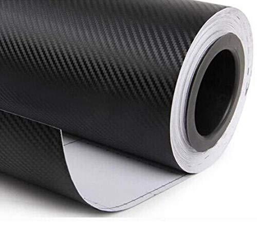 LASISZ 1.27x0.3m Black 3d Carbon Fiber Vinyl Film Car Wrap Sticker Sheet Roll Interior Diy Black Carbon Fiber Car Wrap Accessories,Black