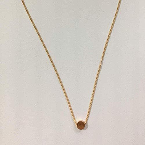 YOUZYHG co.,ltd Collar Mujer s Collar corazón/Forma de Luna Oro Cristal Collar de Metal Oro