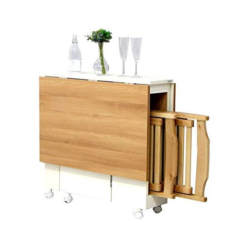 Klaptafel/stoel op wielen; 360 graden draaibaar, rechthoekige telescopische tafel, eenvoudige tafeltafel