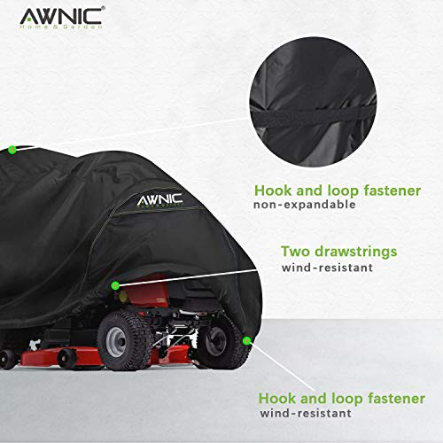 AWNIC Lawn Mower Cover Large Waterproof UV Resistant Polyester TÜV Rheinland Certified 71X47X43in