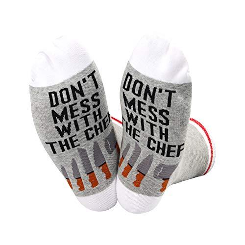 Koch Charm Socken Don't Mess With The Chef Socken Chef Graduation Geschenk Culinary Student Socken Gr. M, U.The Chef