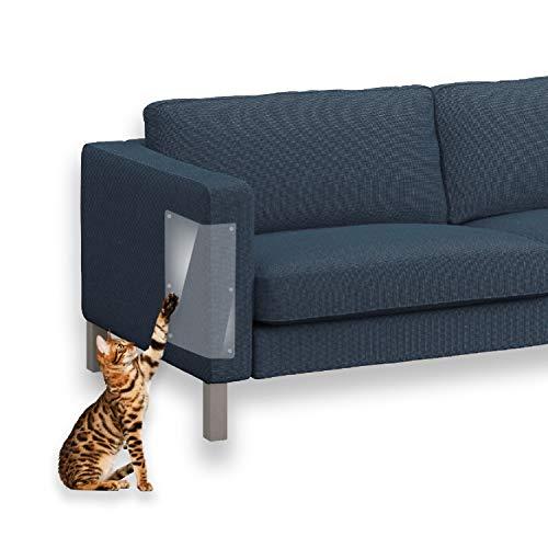 Cizen Proteggi Divano Gatti, 5 pz Protezione AntiGraffio Gatti con Twist Pins - Migliore Protezione dagli Animali Scratching (46 * 20,5cm)
