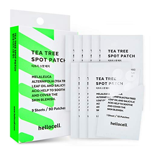 Tea Tree Spot Patch 90 dots - small, invisible, bandaids, Salicylic Acid, Acne, blemishes, Spot, Cover, Acne, Pimple, Blemish, Face, Stickers, 0.55 Inch, Patches