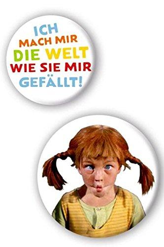 Pippi Langstrumpf - Buttons, 2-teilig