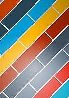 igsticker ポスター ウォールステッカー シール式ステッカー 飾り 841×1189㎜ A0 写真 フォト 壁 インテリア おしゃれ 剥がせる wall sticker poster 006362 チェック・ボーダー カラフル 模様