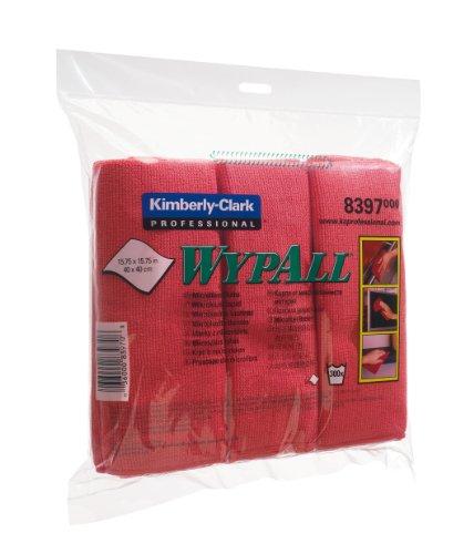 WypAll 8397 Mikrofasertücher, 1 Päckchung x 6 Tüchern, rot