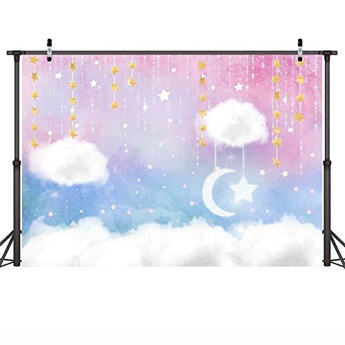 Fondo fotográfico artístico arcoíris Dorado centelleante Estrella pequeña soñadora Dulce niños cumpleaños telón de Fondo para Estudio fotográfico A16 10x7ft / 3x2,2 m