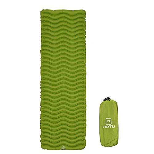 YeSheng Camping Sleeping Pad - Self-Inflating Mat, Best Sleeping Pads for Backpacking, Hiking Air Mattress - Lightweight, Inflatable & Compact, Camp Sleep Pad (Green)