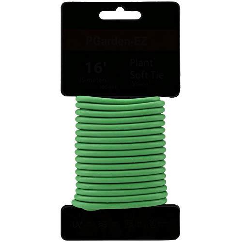 Moligin - Corbata para plantas estereotipadas para plantas de apoyo y organización del hogar, 5 x 5000 mm, color verde