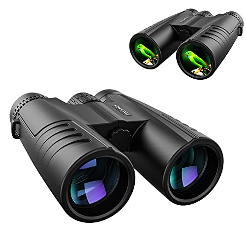 12x42 HD Professional Binoculars for Adults with Phone Adapter: High Power Waterproof Compact and Low Light Night Vision Binoculars with BAK4 Prism...
