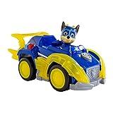 Paw Patrol - 6054192 - Jeu enfant - Véhicule + Figurine Mighty Pups Chase - La Pat' Patrouille