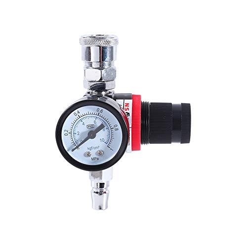 Drukregelklep, 1/4 inch Luchtdrukregelaar Gauge Regelklep Compressor voor spuitpistool