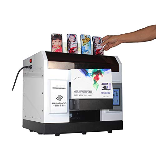 ZYT Impresora DTG, Impresión de Bricolaje Automático LED UV Cama Plana Impresoras, A3 A4 Tamaño de impresión para Camiseta Caja del teléfono Camiseta Logo Foto