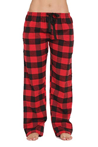 #followme Flannel Pajama Pants for Women Sleepwear PJs 45805-10195-RED-XS