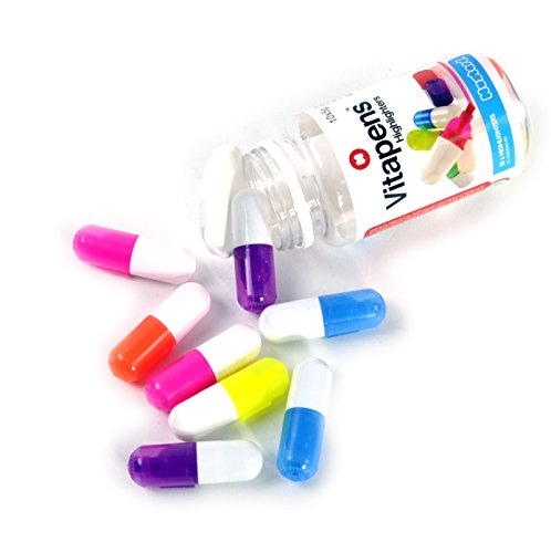Toy Zany Mustard Vitapens Capsule Highlighters