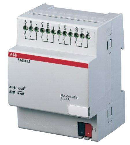 Preisvergleich Produktbild ABB SA / S8.16.1 EIB / KNX Schaltaktor,  16A,  REG,  8-fach